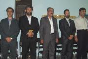 نماینده زرتشتیان با رییس تربیت بدنی در جام اشا، کرمان