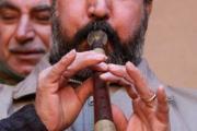 کاووسی از نوازندگان سرنا در روستای ذین آباد تفت