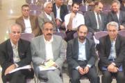 کورش نیکنام در کنار استانداریزد ونمایندگان